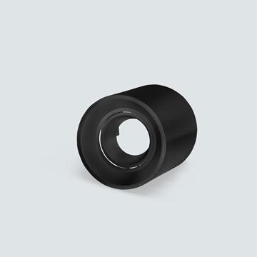 Εικόνα της Σποτ εξωτερικό στρογγυλό μαύρο GU5.3 IP20 για λάμπα led πλαστικό Lambario