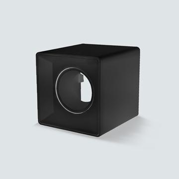 Εικόνα της Σποτ εξωτερικό τετράγωνο μαύρο GU5.3 IP20 για λάμπα led πλαστικό Lambario