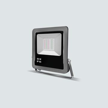 Εικόνα της Προβολέας LED SMD με Χειριστήριο Γκρί 50w RGB IP65 Lambario