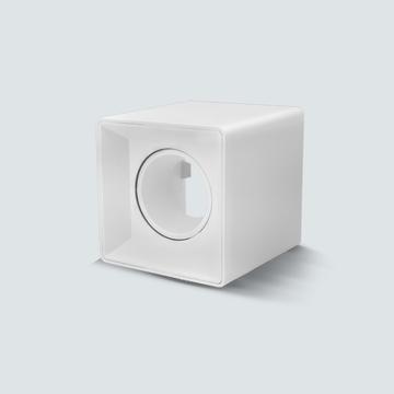 Εικόνα της Σποτ εξωτερικό τετράγωνο λευκό GU5.3 IP20 για λάμπα led πλαστικό Lambario