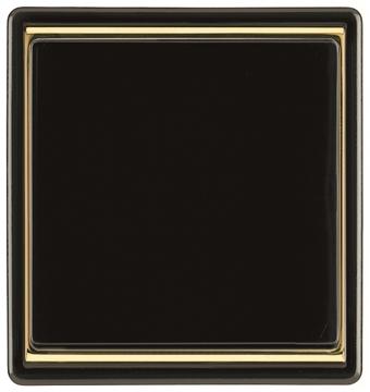 Εικόνα της Μαύρο πλαίσιο μονό χρυσό δαχτυλίδι dialog