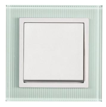 Εικόνα της Πλαίσιο γυαλί λευκό ριγέ Aura