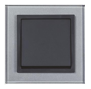Εικόνα της Πλαίσιο γυαλί μαύρο αλουμίνιο Aura