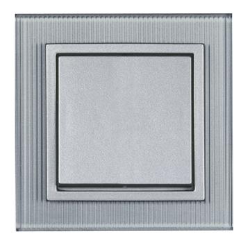 Εικόνα της Πλαίσιο γυαλί αλουμίνιο ριγέ Aura