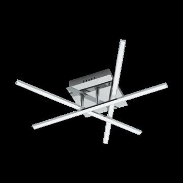 Εικόνα της Φωτιστικό Οροφής Led Χρώμιο/Λευκό lasana 1 95567 Eglo