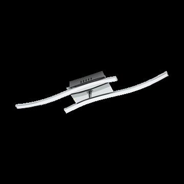 Εικόνα της Φωτιστικο Οροφής LED Χρώμιο/Λευκό Valmora 96325 Eglo