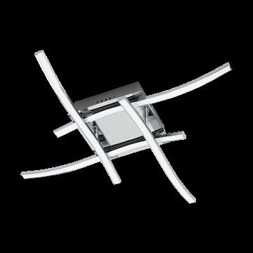 Εικόνα της Φωτιστικό Οροφής Led Χρώμιο-Λευκό Valmora 96327 Eglo