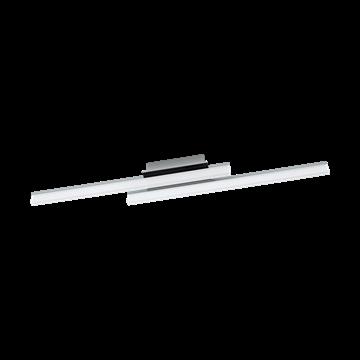 Εικόνα της Φωτιστικό Οροφής Δίφωτο Led Χρώμιο-Σατινέ Lapela 96409 Eglo
