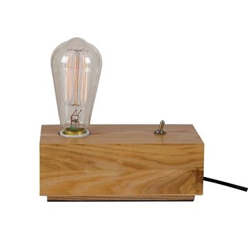 Εικόνα της Επιτραπεζια φωτιστικό με Ξυλινη Βαση Με Καλ.Διακοπτη  Dimmer Vk/0106