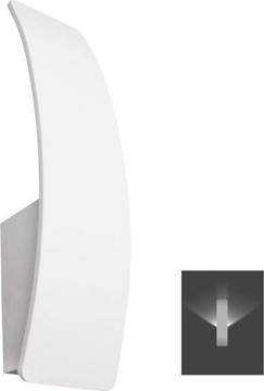 Εικόνα της Απλίκα Τοίχου Αλουμινίου LED 7W 3000K Κάθετη Λευκή