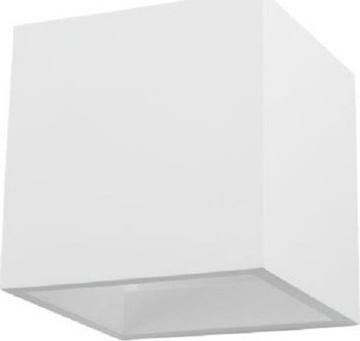 Εικόνα της Απλίκα Τοίχου Τετράγωνη Γύψινη Λευκή 5983 Spotlight