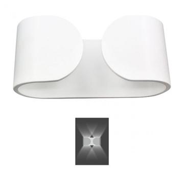 Εικόνα της Απλίκα Τοίχου Παραλληλόγραμμη Αλουμινίου LED 6W 3000K Λευκή