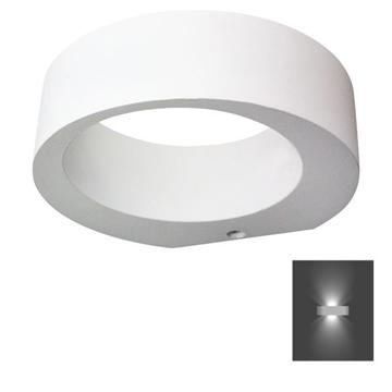 Εικόνα της Απλίκα Τοίχου Λευκή LED 7W Στρογγυλή Αλουμινίου