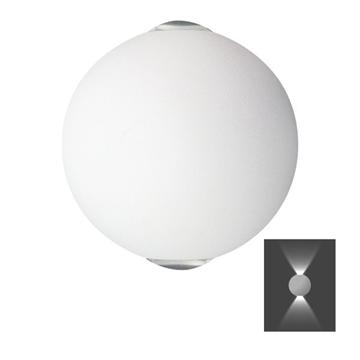 Εικόνα της Απλίκα Τοίχου Μπαλάκι LED 6W IP20 3000K Λευκή