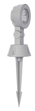 Εικόνα της Φωτιστικό Εδάφους Εξωτερικού Χώρου Καρφί LED 3Χ1W 6000K Ασημί