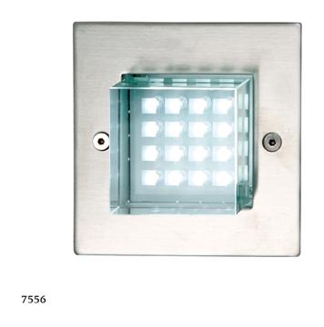 Εικόνα της Φωτιστικό Εξωτερικού Χώρου LED Χωνευτό Τοίχου Ανοξείδωτο 1,6W IP65 Ασημί