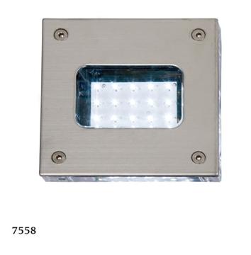 Εικόνα της Φωτιστικό Εξωτερικού Χώρου LED Χωνευτό Τοίχου Με Ντεκόρ 1,5W IP65 Ανοξείδωτο