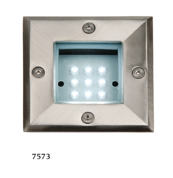 Εικόνα της Φωτιστικό Χωνευτό Εξωτερικού Χώρου Τετράγωνο LED 0,9W IP54 Ασημί Ανοξείδωτο
