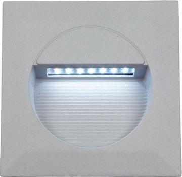Εικόνα της Φωτιστικό Εξωτερικού Χώρου Χωνευτό Τετράγωνο LED 1,4W Ασημί