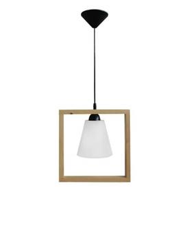Εικόνα της Fun-01 Frame-Wood 1/Φ Κρεμαστο Φωτιστικο Ξύλο 31-0402 Heronia