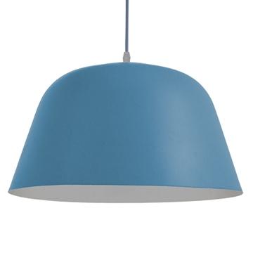 Εικόνα της Μοντέρνο Κρεμαστό Φωτιστικό Οροφής Μονόφωτο Μπλε Μεταλλικό Καμπάνα Φ40 GloboStar DOWNVALE 01286