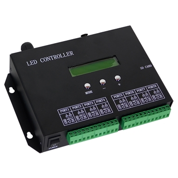 Εικόνα της LED Digital Controller T8000PRO H803SA 8000 IC DMX512 SD CARD GloboStar 88771