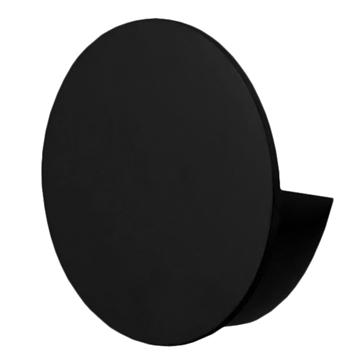 Εικόνα της LED Φωτιστικό Τοίχου Απλίκα Αρχιτεκτονικού Φωτισμού Round Back Light Μαύρο IP54 10 Watt CREE Θερμό Λευκό GloboStar 93054