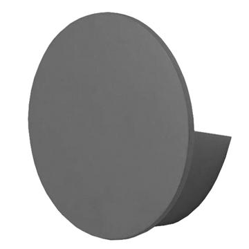 Εικόνα της LED Φωτιστικό Τοίχου Απλίκα Αρχιτεκτονικού Φωτισμού Round Back Light Γκρι IP54 10 Watt CREE Θερμό Λευκό GloboStar 93055
