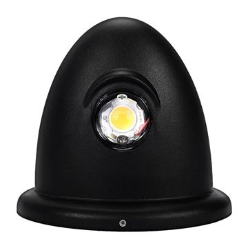 Εικόνα της LED Φωτιστικό Τοίχου Αρχιτεκτονικού Φωτισμού Up Down Μαύρο IP65 10 Watt CREE Θερμό Λευκό GloboStar 93068
