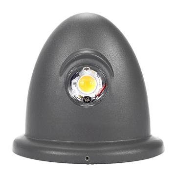Εικόνα της LED Φωτιστικό Τοίχου Αρχιτεκτονικού Φωτισμού Up Down Γκρι IP65 10 Watt CREE Θερμό Λευκό GloboStar 93069