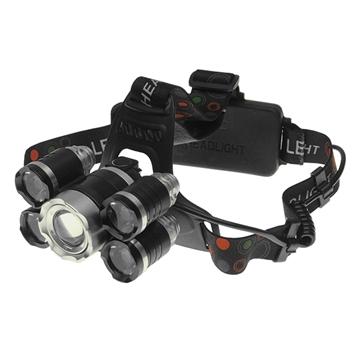 Εικόνα της Πανίσχυρος Φακός Κεφαλής LED Ασημί Επαναφορτιζόμενος 5000 Lumen 5200Mah GloboStar 05998