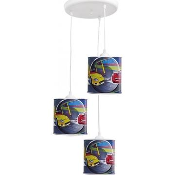 Εικόνα της Κρεμαστό Τρίφωτο Παιδικό Φωτιστικό Cars Kid 3L Boy 36-0004 Heronia