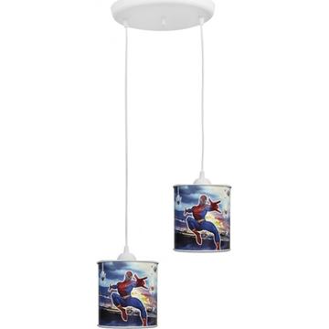 Εικόνα της Κρεμαστό Δίφωτο Παιδικό Φωτιστικό Διφωτο Spiderman 36-0007 Heronia