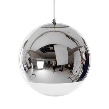 Εικόνα της Μοντέρνο Κρεμαστό Φωτιστικό Οροφής Μονόφωτο Γυάλινο Νίκελ Φ15 GloboStar MIRAGE 01311