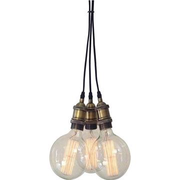 Εικόνα της Homelight Φωτιστικό με αντικέ μπρονζέ ντουί 3φωτο KS2048P-13-3AB MAGNUM 77-2166
