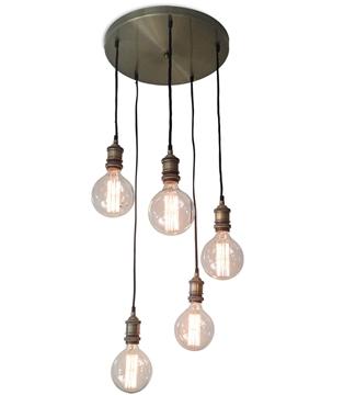 Εικόνα της Homelight Φωτιστικό αντικέ μπρονζέ ντουί 5φωτο KS2048P-40-5AB MAGNUM 77-2169