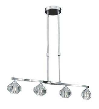 Εικόνα της Homelight Φωτιστικό Κρεμαστό Ράγα 4203-4P HANGING RAIL LA PLAYA 77-1750
