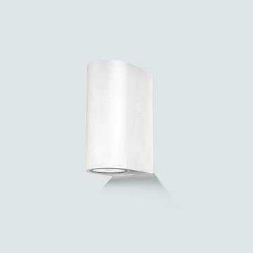Εικόνα της Απλίκα αλουμινίου επιτ. GU10 50w διπλό λευκό Lambario