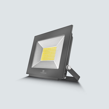 Εικόνα της Προβολέας LED smd 100w 3000K  IP65 μαύρος Lambario