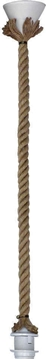 Εικόνα της Ανάρτηση Κρεμαστού Φωτιστικού Ροδέλα Ε27 Rope Ring Ut-Wh Φ18 31-0956 Heronia