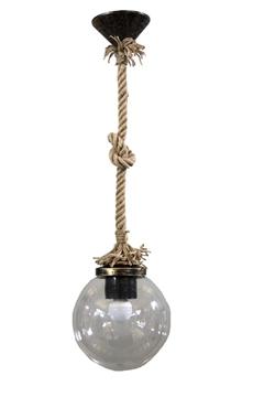 Εικόνα της Κρεμαστό Μονόφωτο Φωτιστικό Πλαστικό Με Σχοινί Lp-100Κ Rope Clear 31-0059 Heronia