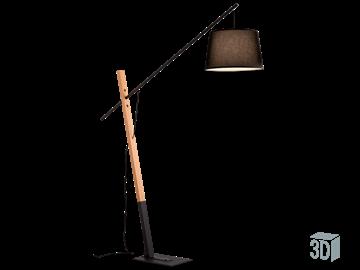 Εικόνα της Φωτιστικό Δαπέδου Crane E27 60W Ξύλο 4204100 Viokef