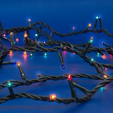 Εικόνα της Χριστουγεννιάτικα Λαμπάκια Πολύχρωμα 180L Με Πράσινο Καλώδιο & 8 Προγράμματα 7,8M XLAGS10180 EPAM