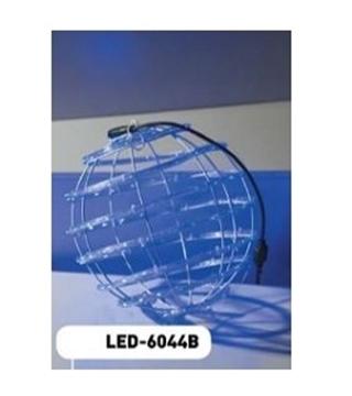 Εικόνα της Χριστουγεννιάτικη Φωτιζόμενη Μπάλα LED Μπλέ Με Φωτοσωλήνα 30εκ. LED-6044B Epam