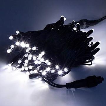 Εικόνα της ΛΑΜΠΑΚΙΑ ΧΡΙΣΤΟΥΓΕΝΝΙΑΤΙΚΑ 100L ΕΠΕΚΤΕΙΝΟΜΕΝΟ 10Μ-ΚΑΟΥΤΣΟΥΚ ΚΑΛΩΔΙΟ-ΛΕΥΚΟ led ΕΞΩΤΕΡΙΚΑ