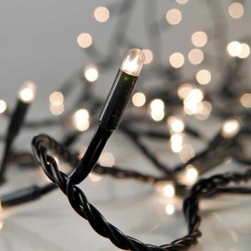 Εικόνα της Χριστουγεννιάτικα Λαμπάκια 300L Με 8 Προγράμματα, Πράσινο Καλώδιο, Λευκό Φώς 6.3m XLAGS11300 EPAM