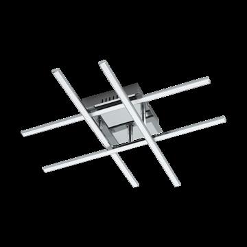 Εικόνα της Φωτιστικό Απλίκα/Οροφής LED Χρώμιο-Λευκό Lasana 1 95568 Eglo