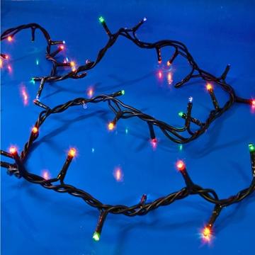 Εικόνα της Χριστουγεννιάτικα Λαμπάκια 300L 8 Προγράμματα, Πράσινο Καλώδιο, Πολύχρωμα Λαμπάκια 12,7m XLAGS10300 Epam