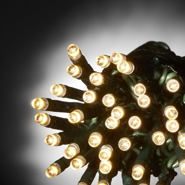 Εικόνα της Χριστουγεννιάτικα Λαμπάκια Εξωτερικού Χώρου 100L LED Με Επεκτ/μενο Πράσινο Καλώδιο, Θερμό-Λευκό Φώς 31V XLALED100W-GWW/31V EPAM