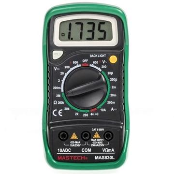 Εικόνα της Πολυμετρο Ψηφιακο Basic Θηκη  Buzzer Βοηθητικου Φωτισμου 830Lc Mastech